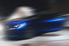 Abstract background of sport car in the motion. Abstract futuristic background of sport car in the motion Stock Images