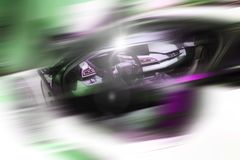 Abstract background of sport car. Abstract futuristic background of sport car in the motion  and with bright light Stock Photography