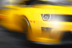 Abstract background of sport car. Abstract futuristic background of sport car in the motion  and with bright light Royalty Free Stock Photography