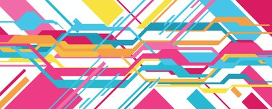 Abstract and futuristic banner. Vector art Vector Illustration