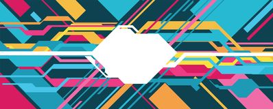 Abstract and futuristic banner. Vector art Stock Illustration