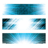 Abstract  futuristic blue background Stock Photography
