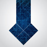 Abstract  futuristic blue background Stock Images