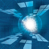 Abstract  futuristic blue Stock Images