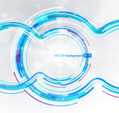 Abstract futuristic blue circle. Stock Images