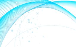 Abstract futuristic blue line curve wave on white background. Abstract futuristic blue line curve wave element on white background. Vector illustration for stock illustration
