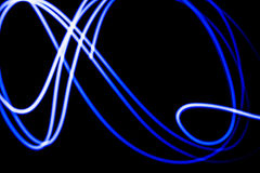 Abstract futuristic blue neon background Stock Images