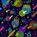 Abstract bright background with multicolored  geometric shapes. Abstract futuristic bright background with multicolored  geometric shapes. Vector illustration Stock Images