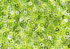 Abstract Futuristic Circles Green Background concept of eco life Stock Image