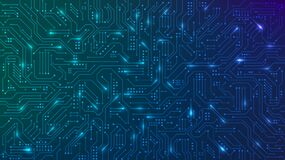 Abstract futuristic circuit board. High computer technology blue color background. Hi-tech digital technology concept. Vector