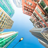 Abstract futuristic cityscape view. Hong Kong Stock Photography