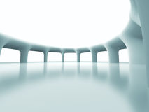 Abstract Futuristic Column Architecture Background. 3d Render Illustration Stock Images