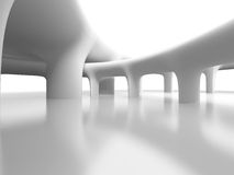 Abstract Futuristic Column Architecture Background Stock Photo