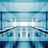 Abstract futuristic 3d rendering. Abstract blue glass futuristic concept 3d rendering Royalty Free Stock Image