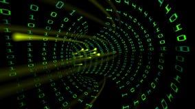 Abstract futuristic data tunnel stock video