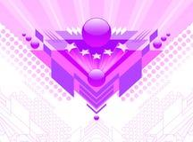 Abstract futuristic design. Vector illustration with abstract futuristic design Stock Photo