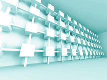 Abstract Futuristic Design Architecture Background. 3d Render Illustration royalty free illustration