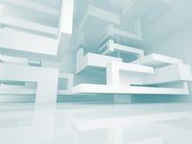 Abstract Futuristic Design Architecture Background. 3d Render Illustration vector illustration