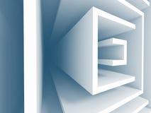 Abstract Futuristic Design Architecture Background. 3d Render Illustration stock illustration