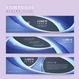 Abstract futuristic design for banners set Royalty Free Stock Photography
