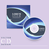 Abstract futuristic design for CD cover Stock Image
