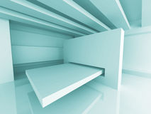 Abstract Futuristic Design Room Interior Background. 3d Render Illustration vector illustration
