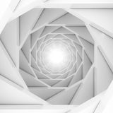 Abstract Futuristic Design Tunnel Background. 3d Render Illustration Royalty Free Stock Images