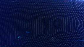 Abstract futuristic digital blue motion background, wavy animated surface loop. concept of digital iternet space royalty free illustration