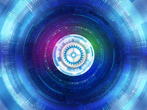 Abstract futuristic digital technology background. Digital commu Royalty Free Stock Photography