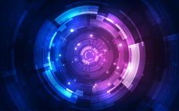 Abstract futuristic digital technology background. Illustration Vector stock illustration