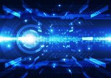 Abstract futuristic digital technology background. Illustration  Stock Image