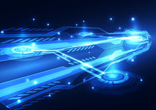 Abstract futuristic digital technology background. Illustration Vector. Innovation Royalty Free Stock Photo