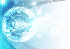 Abstract futuristic digital technology background. Illustration Vector Royalty Free Stock Photos