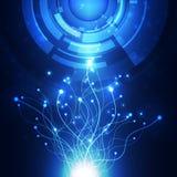 Abstract futuristic digital technology background. Illustration Vector Stock Photo