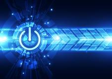 Abstract futuristic digital technology background. Illustration Vector Stock Photos