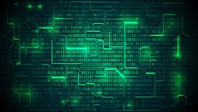 Abstract futuristic electronic circuit board   Royalty Free Stock Photo