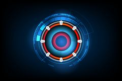 Abstract futuristic electronic circuit technology background, ve. Ctor illustration eps10 vector illustration