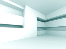 Abstract Futuristic Empty Interior Architectural Design Backgrou. Nd. 3d Render Illustration Stock Photography