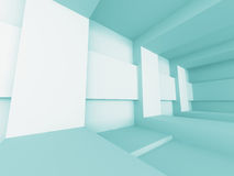 Abstract Futuristic Empty Interior Architecture Background. 3d Render Illustration Stock Photography