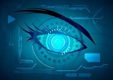 Abstract futuristic eye. Vector illustration Abstract futuristic eye stock illustration