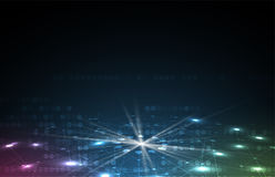 Abstract futuristic fade computer technology business background royalty free illustration