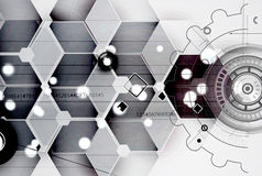 Abstract futuristic fade computer technology business background Royalty Free Stock Photography