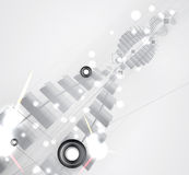 Abstract futuristic fade computer technology business background Stock Photo