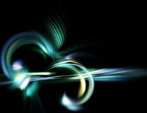 Abstract futuristic fractal background. With bright curles vector illustration