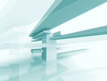 Abstract Futuristic Geometric Architecture Background Stock Photos