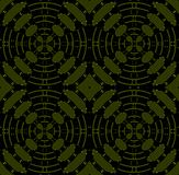 Seamless diamond pattern olive green black Royalty Free Stock Photos