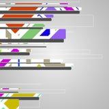 Abstract futuristic geometric shapes vector illustration