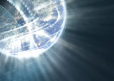 Abstract futuristic global background Stock Images