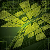 Abstract futuristic green bright background illustration Stock Photos