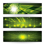 Abstract futuristic green bright Stock Photos